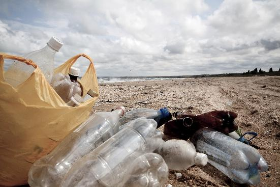 Empty bottles equal pollution equals water problems